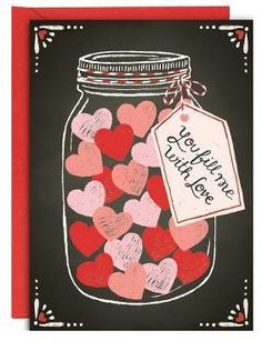 Fill Me With Love Jar Valentine Card Deals on Source - Valentines Jar Coupons, Valentines Day Decorations, Valentine Day Crafts, Be My Valentine, Decoration St Valentin, Valentines Day Bulletin Board, San Valentin Ideas, Love Jar, Valentine Greeting Cards, Preschool Art