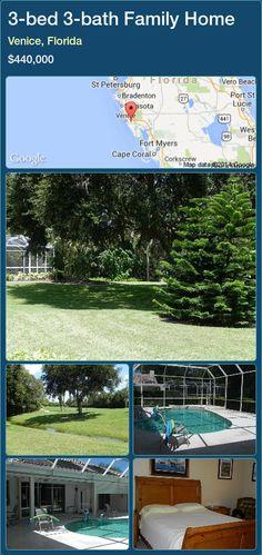 3-bed 3-bath Family Home in Venice, Florida ►$440,000 #PropertyForSaleFlorida http://florida-magic.com/properties/46826-family-home-for-sale-in-venice-florida-with-3-bedroom-3-bathroom