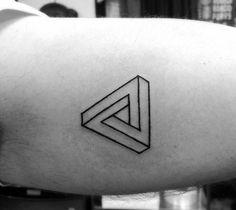 Men's Small Bicep Tattoos Simple