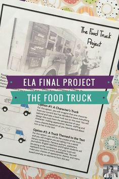 English teachers, are you looking for a project idea that will engage students no matter what you're reading? let them create literary food trucks for 7th Grade Ela, 6th Grade Reading, Middle School Reading, Middle School English, Sixth Grade, Ela Classroom, English Classroom, English Teachers, Classroom Tools