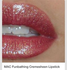 """Product Highlight of the Week: MAC Funbathing Cremesheen Lipstick — As part of my plan to """"rediscover"""" forgotten items in my makeup cache, I dug out Funbathing the other night and swiped it on. The image you see is how it looks applied neat, without. Makeup Box, Kiss Makeup, Mac Makeup, Makeup Lips, Drugstore Makeup, All Things Beauty, Beauty Make Up, Hair Beauty, Pretty Makeup"""