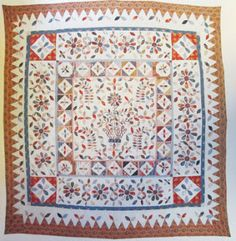 Quilt Inscribed Maria Whelpton, aged 19, Feb. 27, 1828j