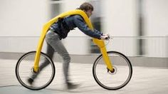 FLIZ is a design concept for a pedal-less bike that the rider propels by running (video). The bike frame suspends the rider above the ground so they can run with ease, a benefit that may prove useful for people with mobility problems Ideas Para Inventos, Moto Design, 3d Design, Custom Design, Graphic Design, Jet Packs, Weird Inventions, Amazing Inventions, Creative Inventions
