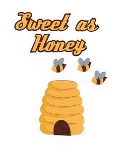 Here is a download file for this cute beehive, bees, and title. SVG and Studio