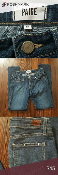 🌸1 HR SALE🌸Paige Skinny Ankle Peg Denim Paige Skinny jeans. Some fading Paige Jeans Jeans Skinny
