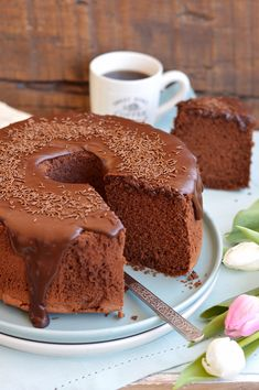 Style, sweetness and more. Sweet Recipes, Cake Recipes, Dessert Recipes, Torta Chiffon, Cake Sans Gluten, Patisserie Sans Gluten, American Cake, Torte Cake, Angel Cake