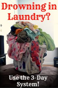 Only do laundry for three days? Sounds like an awesome way how to do laundry! And they are even a large family of six! I hate having piles of laundry everywhere and always doing laundry. This seems like a totally manageable laundry system!