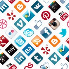 Social Media Icons Seamless Pattern Editorial Photo - Image of background, brandname: 29237981 Social Media Branding, Social Media Icons, Personal Branding, Online Marketing, Digital Marketing, Neil Patrick, Photo Social Media, Professional Networking, What Is Digital
