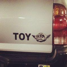 #TOYOTA →TO- #YODA #STARWARS #JDM