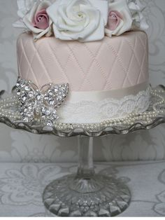 Glass cake stands always gives that vintage feel