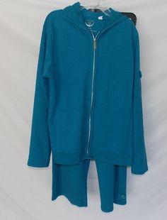 Chicos 1 Zenergy Sweatsuit Track Suit Cotton Blend  Jacket Hoodie Pants  #ChicosZenergy