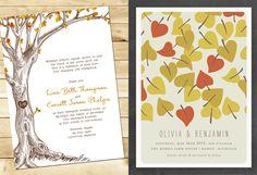 Fall Wedding Invitation Roundup