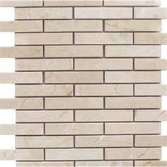 1x4 Crema Marfil Marble Brick Pattern Polished Mosaic Tile. #Crema_Marfil #Polished_Mosaic #Marble_Brick