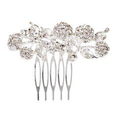 Bridal Wedding Flower Leaf Rhinestone Hair Comb Hair Accessories ** More info could be found at the image url.