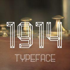 1914 Typeface by MIGUEL PALMEIRO DESIGNER , via Behance