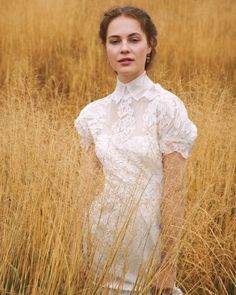 """See the """"Prim and Proper"""" in our The Best Outdoor Wedding Dresses gallery Outdoor Wedding Dress, Wedding Gowns, Wedding Day, Wedding Dress Gallery, Wedding Photos, Got Married, Getting Married, Wedding Superstitions, Trumpet Dress"""