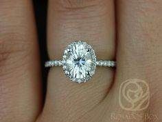 This engagement ring is designed for those who love simple with a slight twist. This is a great way to stay away from the traditional round in a round halo! Oval halos are less traditional! Yay!  All stones used are only premium cut, fairly traded, and/or conflict-free! Our diamonds are always natural NEVER treated or enhanced for better color or clarity. Our products are only created with the finest of recycled metals. Rosados Box™ works hard to save the world one piece of jewelry at a…