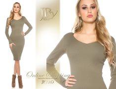 Rochie tricot Olivya Khaki Comanda tel.: 0736.358.802 High Neck Dress, Sweaters, Dresses, Fashion, Tricot, Turtleneck Dress, Vestidos, Moda, Fashion Styles