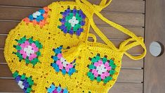 Motifli Çanta /  Grannysqure Crochet Bag ( 13 Motifs)