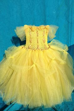 Princess Belle Tutu Dress (Girls 4T- 5T). via Etsy.