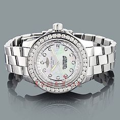 $4,995 - Beautiful Breitling Colt 2.5 ct diamond custom-made womens luxury watch  Now to take out a bank!