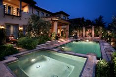 Large spa with pool near outdoor living Residential Landscaping, Pool Landscaping, Backyard Paradise, Custom Pools, Dream Pools, Favim, Pool Houses, Dream Decor, My Dream Home
