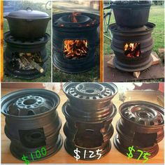 "Acquire fantastic tips on ""outdoor fire pit party"". They are actually offered for you on our site. Outdoor Stove, Outdoor Fire, Metal Projects, Welding Projects, Rim Fire Pit, Fire Pits, Diy Wood Stove, Eco Deco, Fire Pit Party"