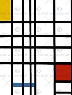 PIET MONDRIAN CUBES OLD MASTER ART PAINTING PRINT 12x16 inch 30x40cm POSTER REPRODUCTION 2574OM