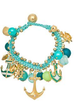 Anchors Away Bracelet in Mint