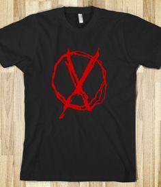 creepypasta merchandise | ... : Red operator symbol associated with slenderman and creepypasta