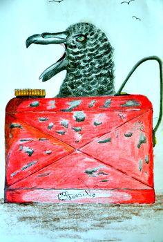 My Art. Petrel Can.(Get It !! ).Watercolour Pencil.