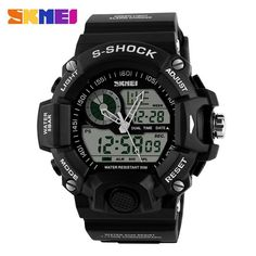 S-Shock Men Sports Watches Skmei LED Digital-Watch Fashion Outdoor Waterproof Climbing Rubber Army Military Watch Reloj Hombre