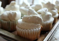 Whipped buttercream frosting with flour, salt, and granulated sugar!