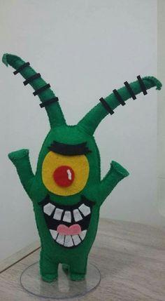 Bob Esponja Felt Monster, Monster Dolls, Felt Crafts Diy, Felt Diy, Fleece Projects, Sewing Projects, Childrens Dolls, Baby Binky, Animal Pillows