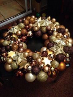 Christmas ball wreath, Kugel Kranz Made by me, Patrizia Monitillo