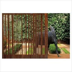 Corten screen, hardscape, landscape architecture