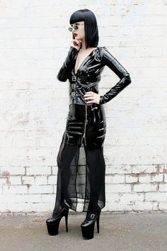 ADELE PSYCH 'Temptress' Glam Goth Rock Fetish style by AdelePsych