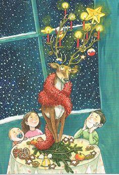 Titel: Alternatieve kerstman;  Design: Askenazy & Wehner. Kerst Postcard