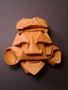 Design by Tomoko Fuse. Origami mask of Ebisu. Folded by me