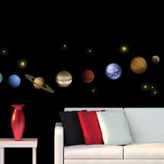 Art Applique by KMG The Planets Decorative Wall Decal