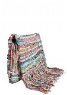 Breena Artisan Woven Cotton Clutch