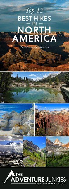 The Best Hikes in North America – Best Hiking Trails – Hiking Bucket List – Beautiful Backpacking - Travel Guide Hiking Places, Hiking Spots, Hiking Trails, Hiking Usa, Camping And Hiking, Thru Hiking, Camping Tips, Kauai Hiking, Baby Hiking