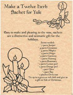 12 herbs for Yule bag