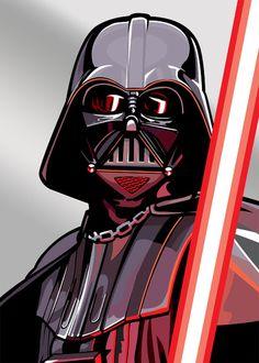 Darth Vader - Complete set of Star Wars Galaxy Series 5 Art if Randy Martinez Subset (Silver) #starwars #fanart
