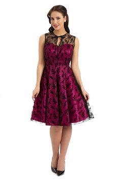 Voodoo Vixen Retro Lace Vintage FLARE DRESS / Pin Up Kleid