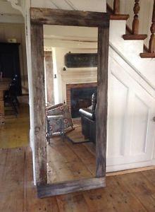 Base de lit style rustique moderne bois de grange lits for Miroir miroir montreal