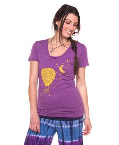 Ballon & Moon Organic and Recycled T-Shirt: Soul Flower Clothing