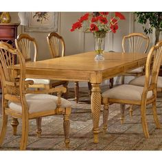 Buy Wilshire Rectangular 73x44 Dining Table w/ Two 18 Inch Leaves in Antique Pine on sale online