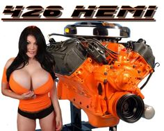 Mopar celebrates 50 years of the 426 Hemi engine Trucks And Girls, Car Girls, Pin Up Girls, Sexy Cars, Hot Cars, Pinup, Mopar Girl, Dodge Muscle Cars, Hemi Engine