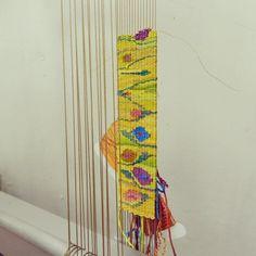 silk cuff on my Mirrix Loom